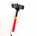 Selfie stick monopod with aux cable