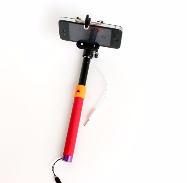 selfie stick with aux cable mobile world online shop. Black Bedroom Furniture Sets. Home Design Ideas